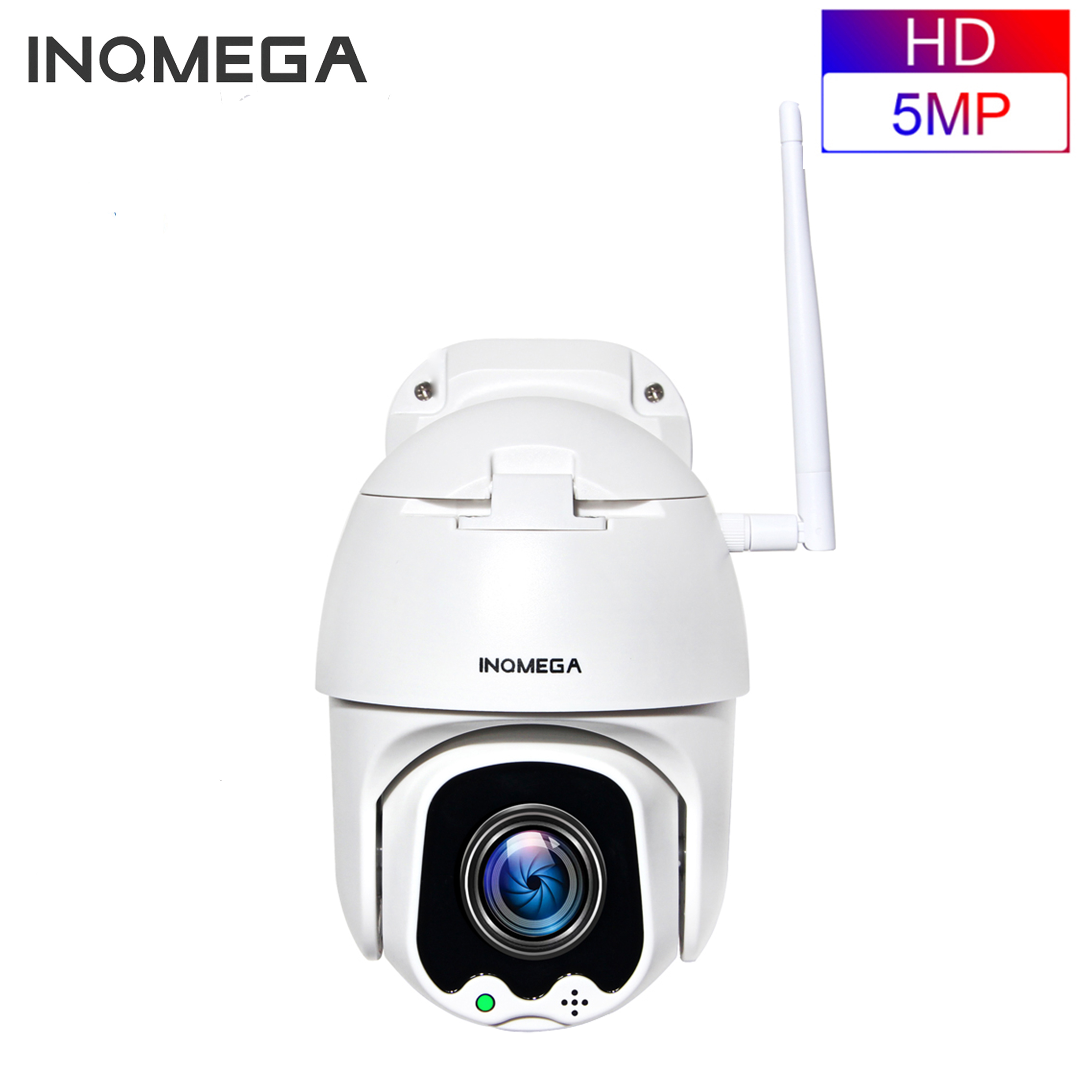 INQMEGA 5MP PTZ Speed Dome IP Camera WiFi Wireless 4X Digital ZOOMOutdoor Security Surveillance Waterproof Networt CCTV Camera