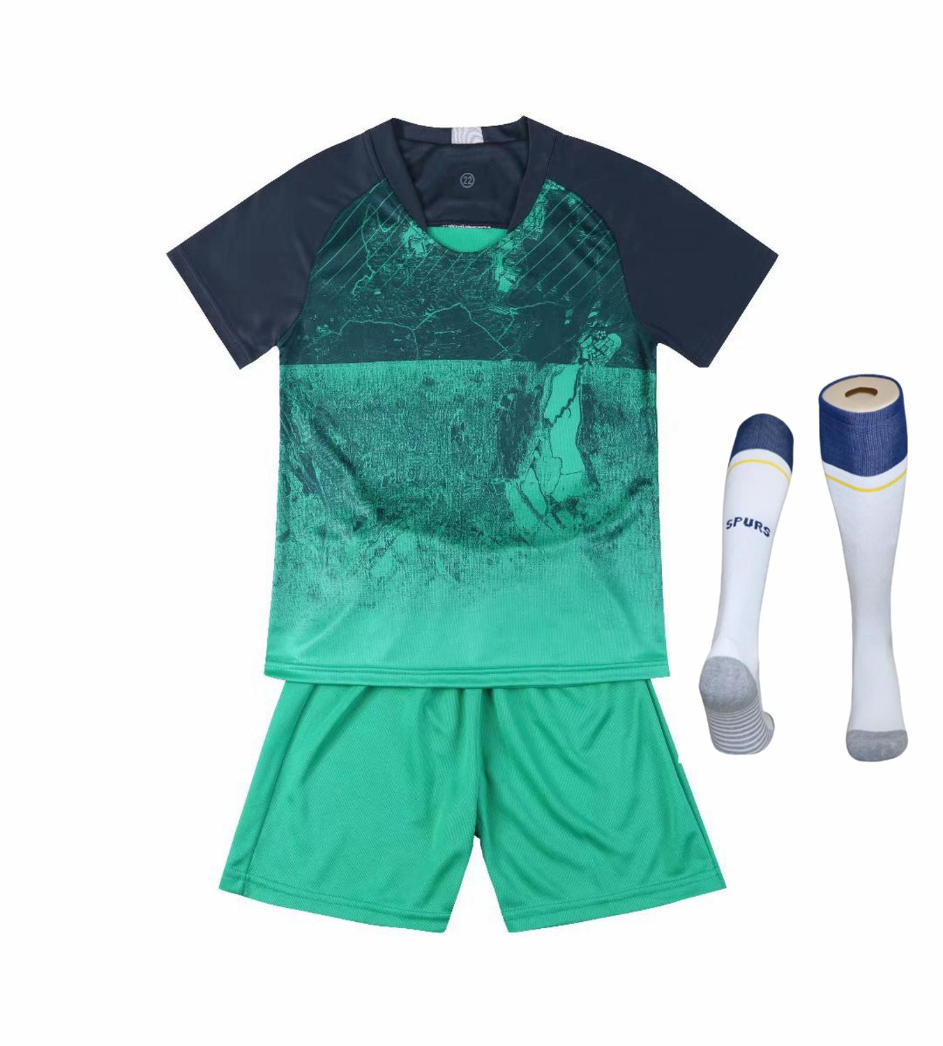 Children Sets football uniforms boys and girls sports kids youth training suits blank custom print soccer set with socks 21