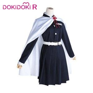 Image 5 - DokiDoki R Anime Cosplay Demon Slayer: Kimetsu no Yaiba Tsuyuri Kanawo Women Halloween Costume Anime Kimetsu no Yaiba Cosplay