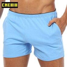 CMENIN boksör erkek iç çamaşırı pamuk çantası Boxershorts uyku erkek külot külot yüzmek veya boksörler şort cep ile OR130