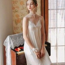 Nighty For Ladies Women Home Dress  White Nightgown 1362