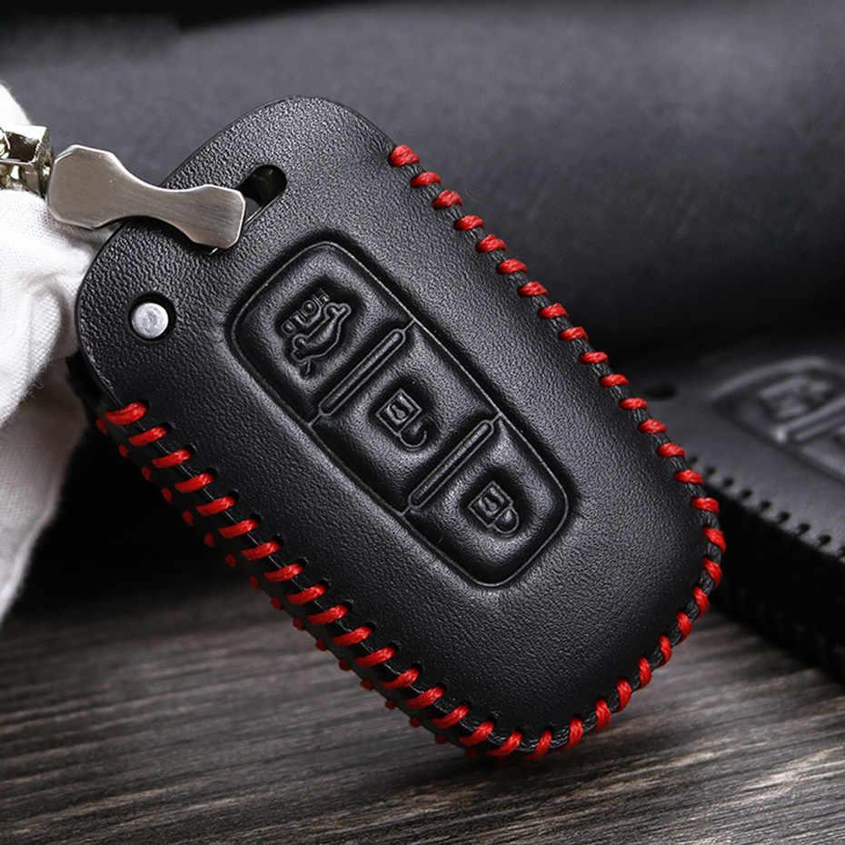 Pour Hyundai Veloster accessoires porte-clés coque en cuir couverture à distance porte-clés pour Hyundai Elantra IX35 Sonata 8 Accent I30 IX 35