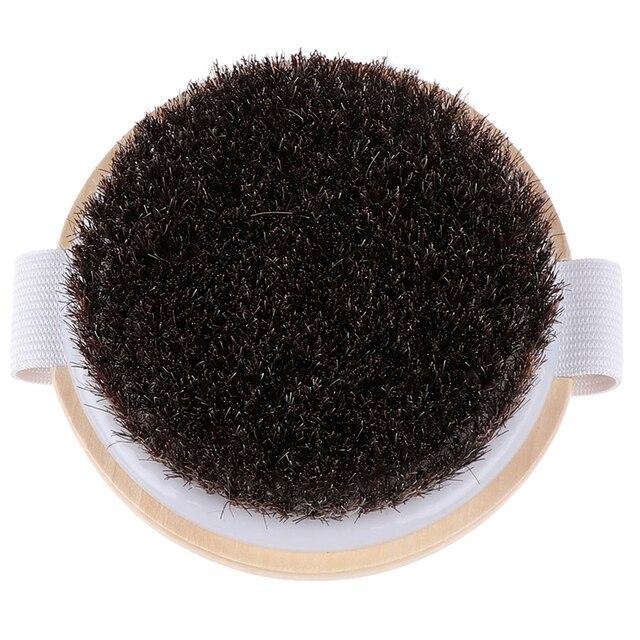 1PCS Body Massage Brush Cellulite Shower Exfoliation Hot Wood Natural Horse Hair Bath Body Brush Dry Skin Brushing 2