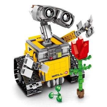 Construcción del Robot wall-e para niños, Star Wars, 16003, 687 Uds., Ideas,...