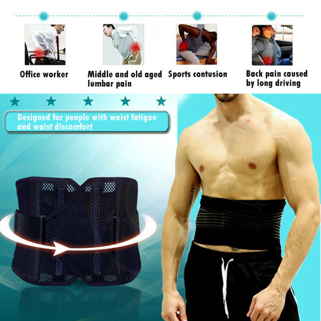 Men Support Waist Belt Sweat Waist Trainer Trimmer Belt Body Shaper Wrap Weight Loss Belt Black 2