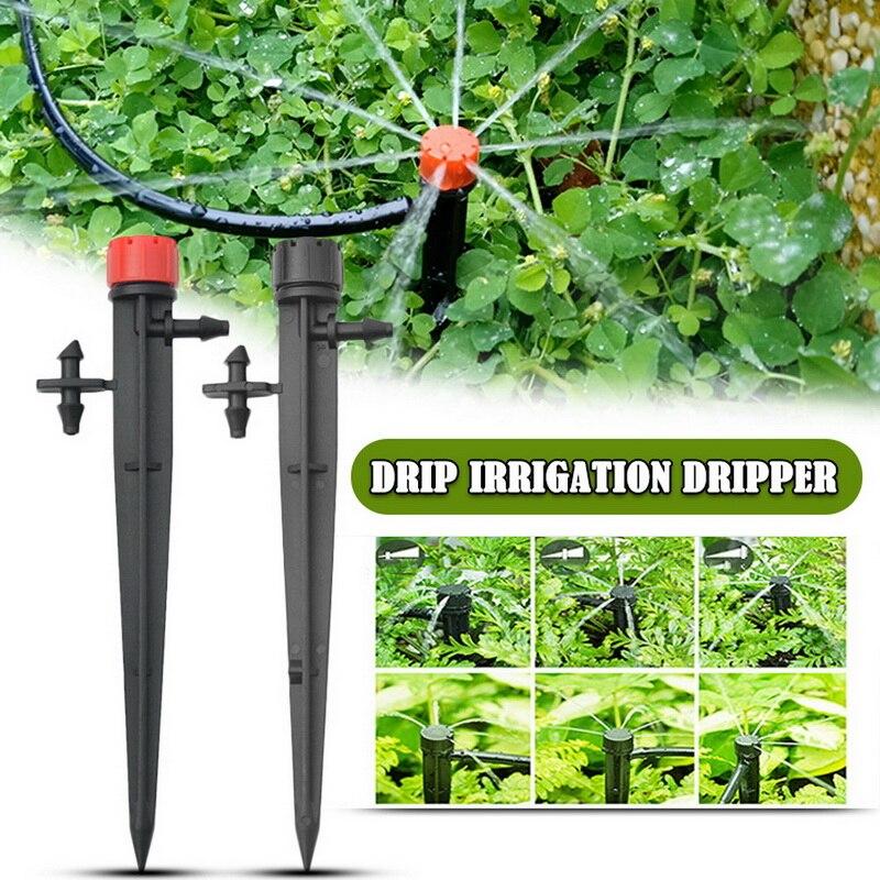 50 stücke 13cm Micro Bubbler Tropf Bewässerung Einstellbare Strahler Stake Gemischt 3 Arten Wasser Tropf Ackerland Neue