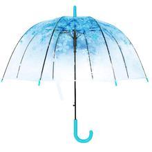 new hotsale useful fashion Windproof Fashion Transparent Cherry Blossoms Dome Shape Birdcage Windproof Stick Umbrella