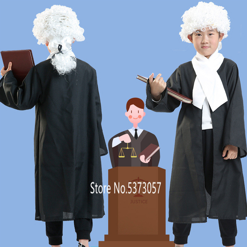 WIG Adult High Court Judge COSTUME GAVEL SPECS Mens Womens Fancy Dress