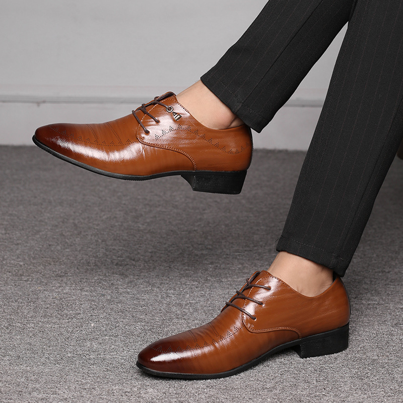 Men's Shoes Lace Up Breathable Formal Office For Man BBNX09555