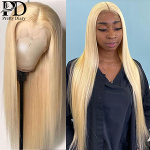 28 30 Inch Straight 13x4 613 Blonde Lace Front Human Hair Wigs Transparent HD Glueless Lace Frontal Wig Pre Plucked Baby Hair