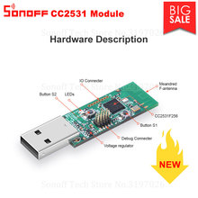 Sonoff Zigbee CC2531 USB Dongle módulo placa de circuito impreso paquete de protocolo analizador interfaz USB Dongle compatible con BASICZBR3 S31 Lite zb