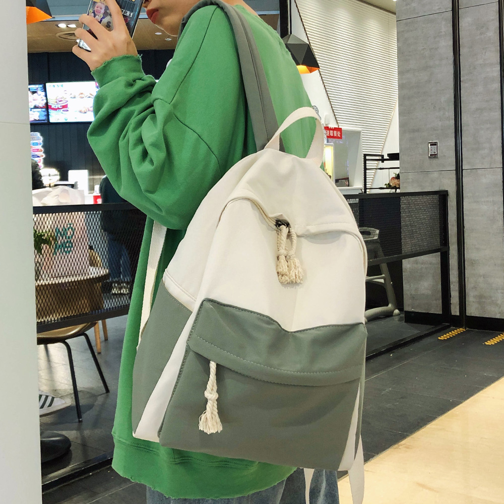 Student Female Cute Backpack Harajuku Nylon Women Fashion School Bag Girl Book Kawaii Backpacks Ladies Luxury Waterproof Bag New