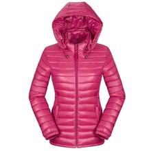 Plus Size Thin Down Jacket Winter Ultra Light Duck Women Hooded Jackets Slim Short Coat Warm Basic płaszcz 25