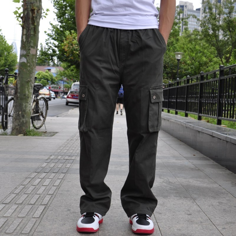 New Arrival Fashion Brand Mens Cargo Baggy Hip-Hop Pocket Loose Casual Overalls Trouser Work Pant Big Size L Xl 2xl 3xl 4xl 6xl