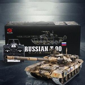 Image 3 - Tanque de batalla principal T90 de 2,4G con Control remoto, tanque con sonido y efecto de disparo de humo, Metal, edición definitiva, Rusia, 1:16
