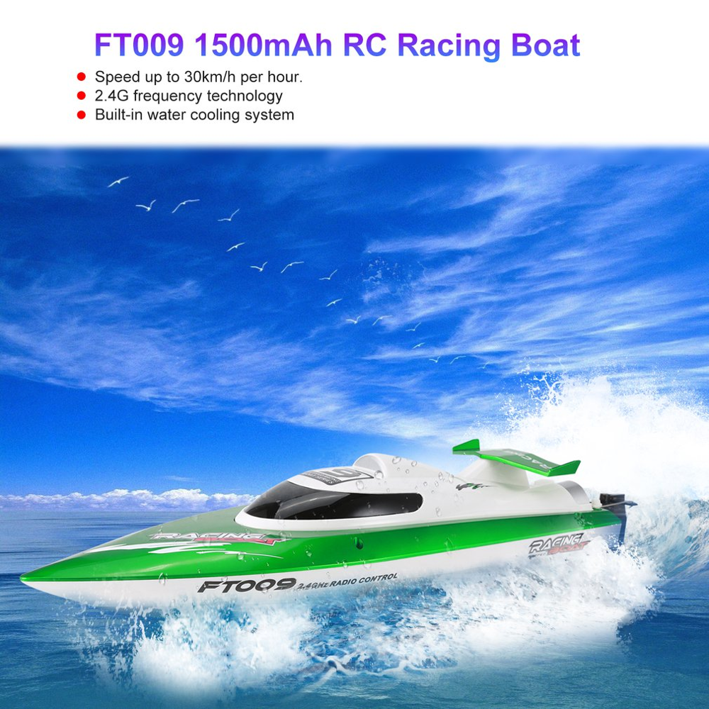 New Feilun FT009 2.4G 4CH Water Cooling RC Racing Boat Speed 30km/h Electric RC Boat Kid Toy Remote Control Boats For Children