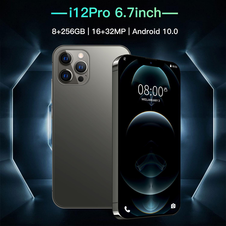 I12Pro 6,7 дюймовых смартфонов Andriod10.0 6800 мА/ч, Две сим-карты 12 Гб Оперативная память 512 ГБ Встроенная память 16 ГБ + 32 ГБ, Мп 4 аппарат не привязан к оп...