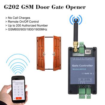 Sterownik GSM do otwierania bramy G202 pilot pojedynczy łącznik przekaźnikowy do otwierania przesuwnego swing brama garażowa wymień RTU5024 tanie i dobre opinie KKMOON Access Controller Fail Safe