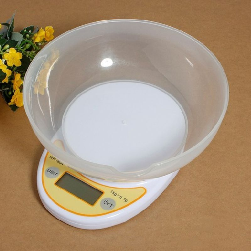 5kg1g/1kg0.1g Electronic Kitchen Scale With Bowl Precision Food Table Scale Baking Precision Jewelry Medicine Scale