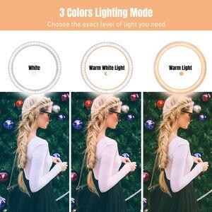 Image 4 - Ring Lamp Video 16/26Cm Dimbare Led Selfie Ring Licht Usb Fotografie Licht Met Statief Voor Telefoon make Up Youtube Tik Tok