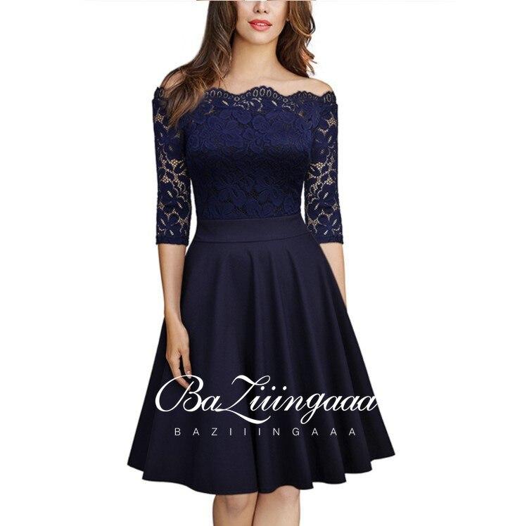 Elegant Lace Evening Dress Women's One-piece Collar Lace Dress Temperament Suitable for Work Clothes Party