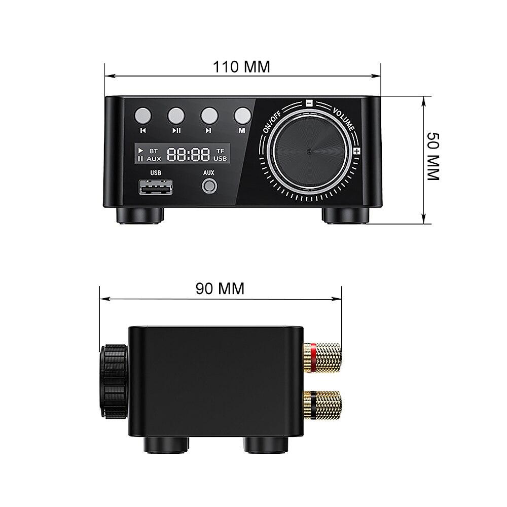 AIYIMA Bluetooth 5,0 TPA3116 50 Вт * 2 класса D мини-усилитель Hifi Fever аудио усилитель мощности стерео 2,0 MP3 плеер без потерь