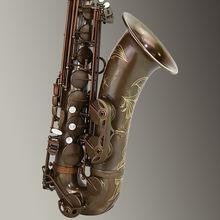 Aisiweier marca saxofone tenor profissional b plana de cobre antigo saxofone instrumentos musicais simulação inscrição esculpida