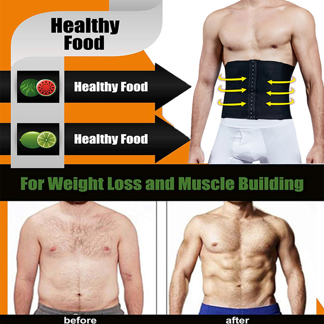 Men's Waist Trainer Sweat Slim Belt for Men Sauna Slimming Vest Waist Cincher Body Shaper Fitness Shapewear Tummy Corset 4