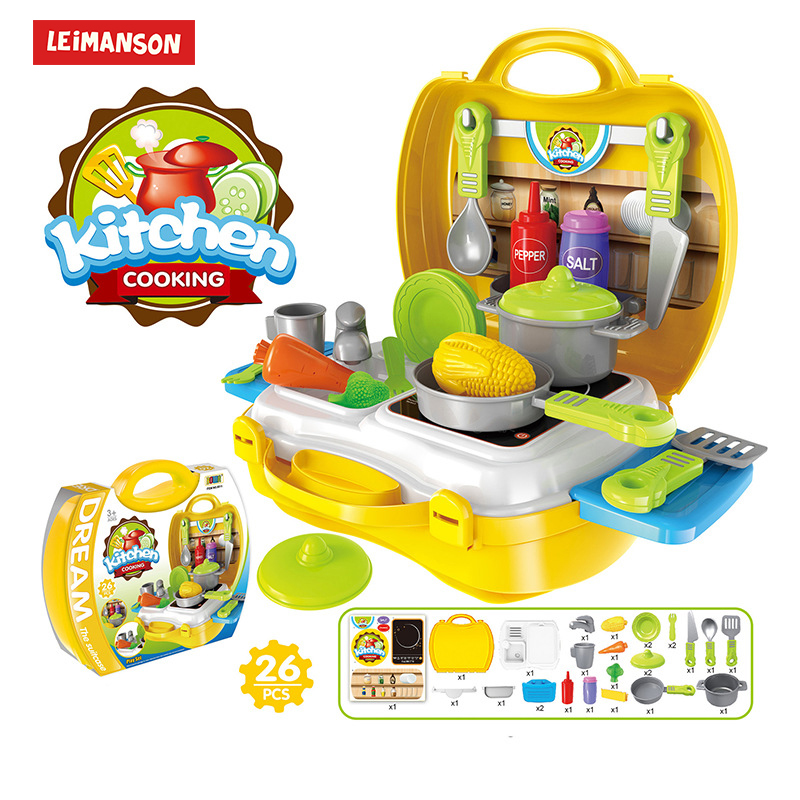 26pcs Kids Kitchen Set Miniature Food Pretend Play Toys For Girls Game F Child Girl Games Toy Funny Simul Toy Play Set