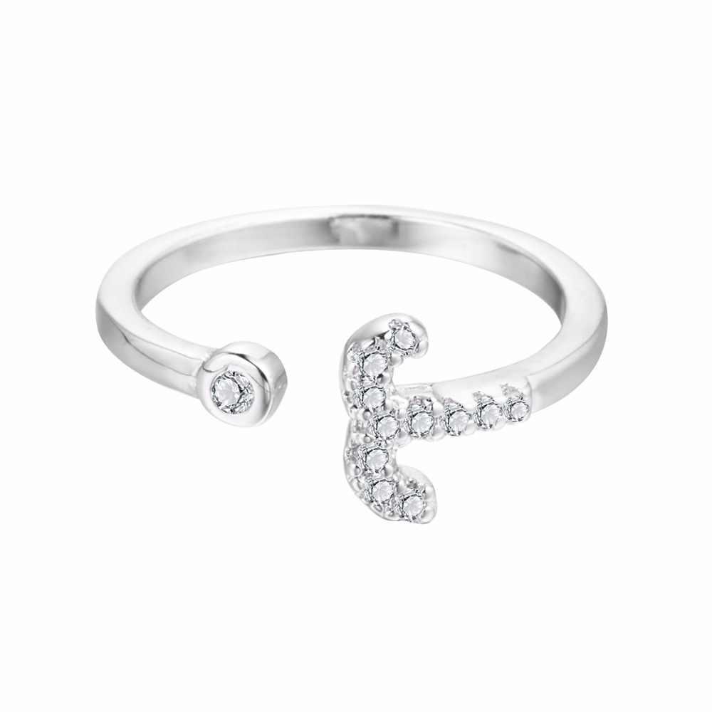2019 Овен звезда кольца Созвездие зодиака Круглый Циркон волны открытый Кристалл кольцо Рождественские украшения подарок на день рождения девушки