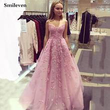 Розовые платья для выпускного вечера со смайликом без бретелек