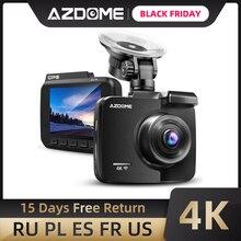 AZDOME GS63HรถDash Cam 4K 2160P Dashกล้องDualเลนส์ในตัวGPS DVR Dashcamพร้อมwiFi G SensorการบันทึกLoop
