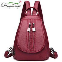 Women Travel Backpack High Quality Women Leather Backpack for Teenage Girls Female Mochila Feminina Sac A Dos School Bag Bagpack smiley sunshine black leather women backpack female fashion drawstring school bag backpack for teenage girls bagpack sac a dos