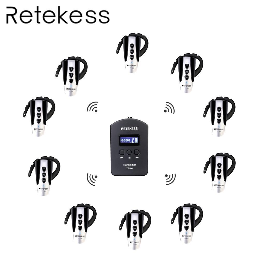 RETEKESS TT106 2.4G UHF Wireless Tour Guide System For Conference Tour Church Simultaneous Interpretation Microphone Tour Guides