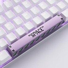 Hollow SPACE Design 6.25U Spacebar Keycaps For Cherry Mx Switch Mechanical Gaming Keyboard Black Orange Purple Metal Space Bar