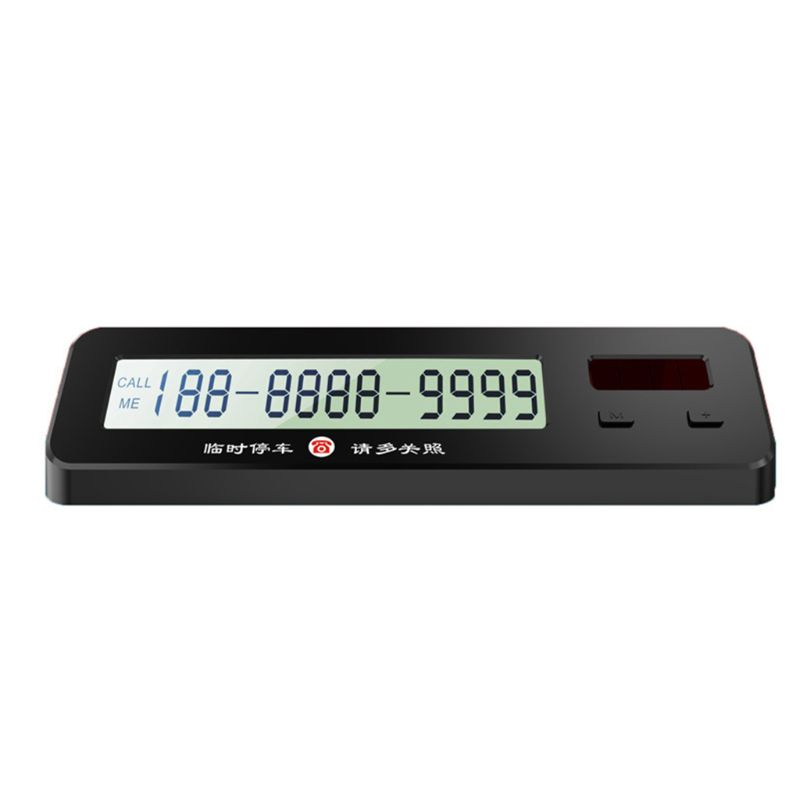 Temporary Stop Sign Solar Electronic Digital Display Moving License Plate Temporary Stop Phone Number Card Car Supplies Ornament