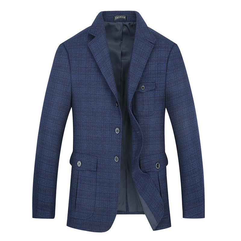 8XL 7XL Plus Size Hot Sale Mens Korean Slim Fit Arrival Cotton Blazer Suit Jacket Blue Plus Size Male Blazers Mens Coat Wedding