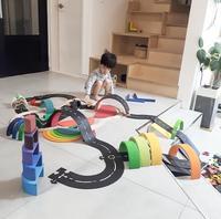 Diy pvc puzzles pista jogo conjunto de estrada carro trilha do bebê quebra-cabeça jogo tapete do assoalho educacional aprendizagem brinquedos nordic crianças decoração do quarto