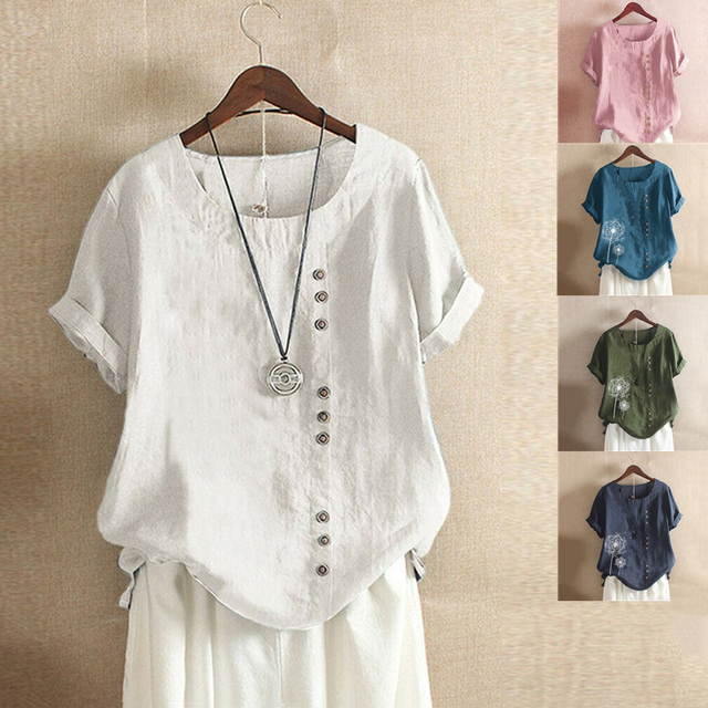 Tunic Tops Casual Short Sleeve Blouse 3