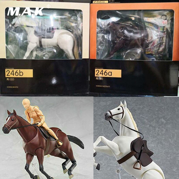 Hot 1//12 Figure 6/'/' figma 246a Chestnut Brown Horse PVC Animal Scene Model Toys