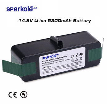 Sparkole 5300mAh 14.8V Li-ion Battery for iRobot Roomba 500 600 700 800 Series 510 531 550 560 580 620 630 650 770 780 870 880