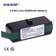 Sparkole batterie Li ion, 5300mAh, 14.8V, pour iRobot Roomba, séries 500, 600, 700, 800, 900, 550, 560, 580, 620, 630, 650, 770, 780, 870, 880