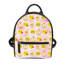 Funny face Print Bagpacks Casual Anti Theft Backpack for ladies travel backpack Women's luxury backpacks