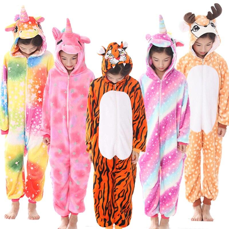 Kigurumi Suit for Children's Pajamas Kids Unicorn Onesie Boys Girls Animal Anime Panda Pijama Winter Sleepers Overalls Jumpsuit