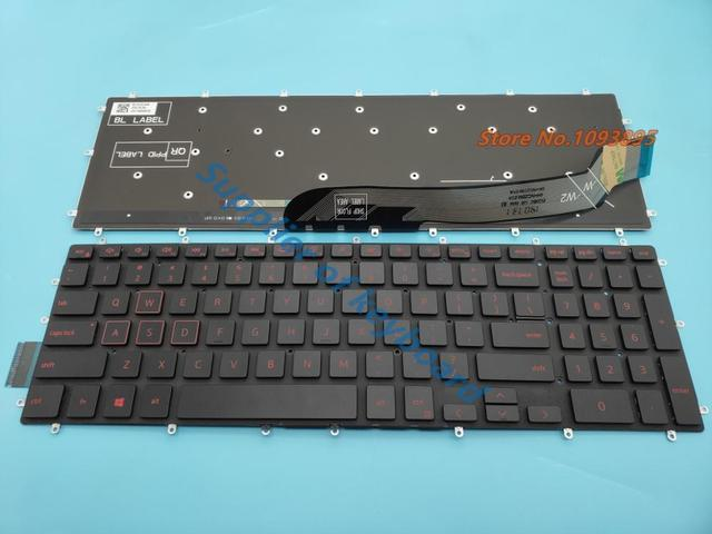 NEW English Keyboard For Dell Inspiron 15 Gaming 7566 7567 5570 5575 7570 7577 Laptop English Keyboard RED Backlit No Frame