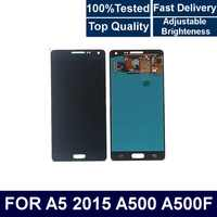 For Samsung Galaxy A5 2015 A500 A500F A500M Mobile phone LCD Display Touch Screen Digitizer Assembly with Brightness Control