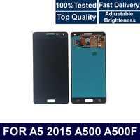 Para samsung galaxy a5 2015 a500 a500f a500m display lcd de tela toque digitador assembléia com controle brilho