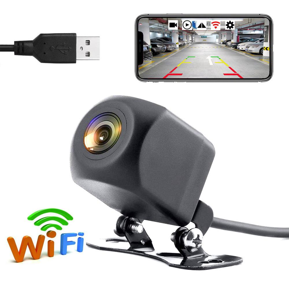 Newest!!! Car DVR Dash Cam Wireless Wifi Front View / Rear View Reverse Camera For Android & IOS Mobile Phone With 5V USB