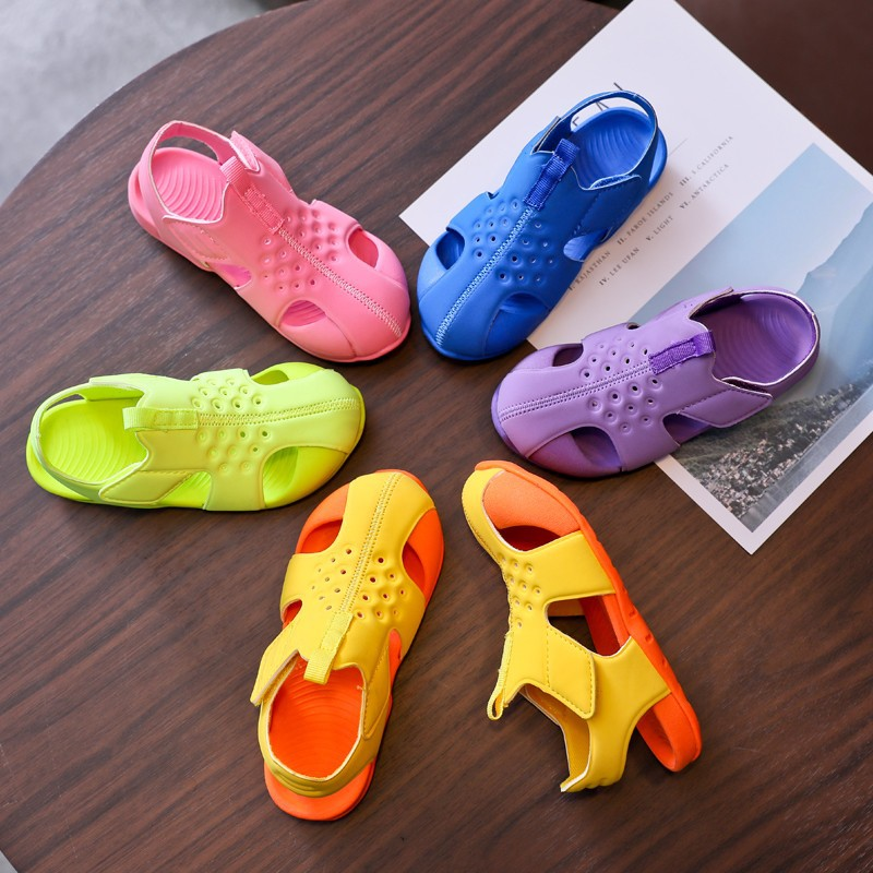 Summer Children\'S Shoes Baby Girls Sandals Soft Leather Flat Heels Gladiator Breathable Beach Sandals New Fashion Kids 2020