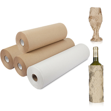 20M Brown Wrapping Paper Kraft  Honeycomb Cushioning Paper Gift Packing Roll  Wedding Birthday Party Packaging Craft Paper